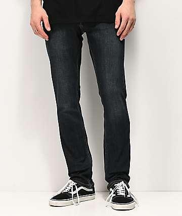 Volcom 2x4 Vintage Blue Denim Skinny Jeans