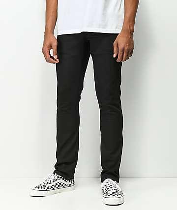 Volcom 2x4 jeans ajustados de mezclilla negra