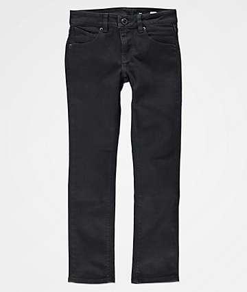 Volcom 2x4 jeans ajustados en negro para niños