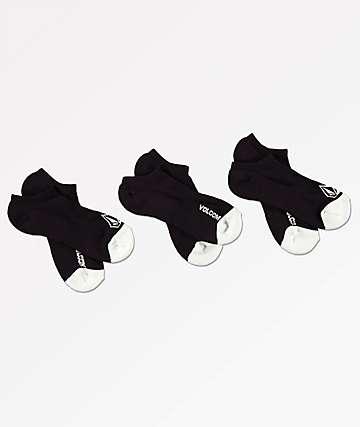 Volcom 3 Pack Stone Black Ankle Socks
