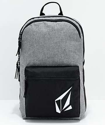 Volcom Academy Grey & Black Backpack