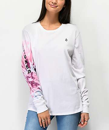 Volcom Arm Me Brat White Long Sleeve T-Shirt