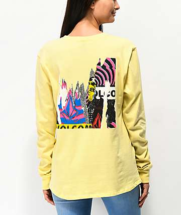Volcom Arm Me Brat Yellow Long Sleeve T-Shirt