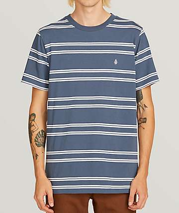 Volcom Beauville Crew Blue T-Shirt