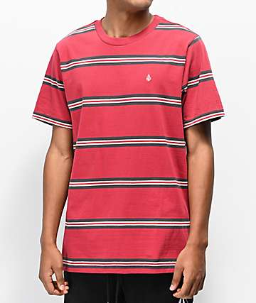 Volcom Beauville Red Stripe T-Shirt