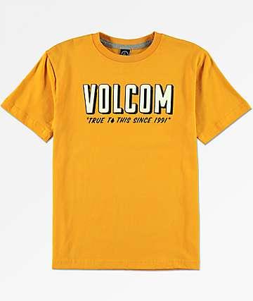 Volcom Boys Camp Stone Tangerine T-Shirt
