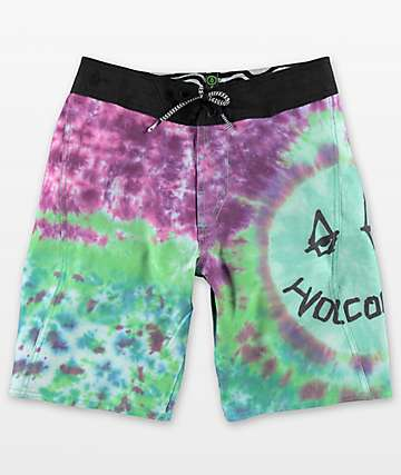 Volcom Boys Chill Out Tie Dye Board Shorts