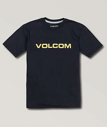 Volcom Boys Crisp Euro Navy T-Shirt