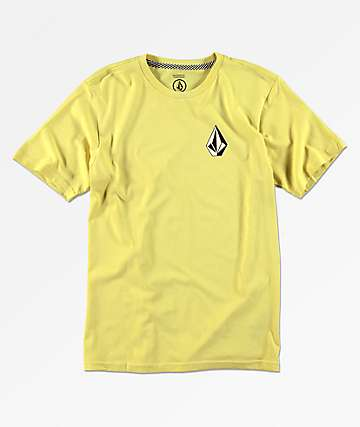 Volcom Boys Deadly Stone Yellow T-Shirt