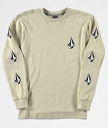Volcom Boys Deadly Stones Sand Long Sleeve T-Shirt