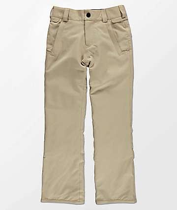 Volcom Boys Freakin Chino Khaki 15K Snowboard Pants