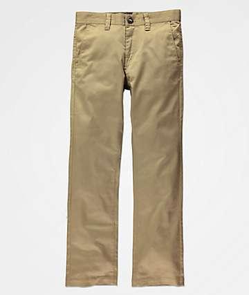 Volcom Boys Frickin Modern Khaki Chino Pants