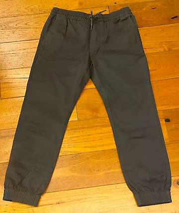 Volcom Boys Frickin Slim Charcoal Jogger Pants