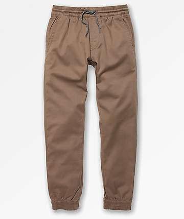 Volcom Boys Frickin Slim Khaki Jogger Pants