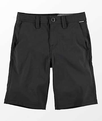 Volcom Boys Frickin Static Black Hybrid Shorts