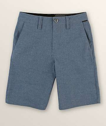 Volcom Boys Frickin Surf N Turf Static Deep Blue Hybrid Shorts