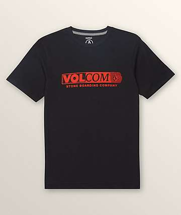 Volcom Boys Harsh Fade Black T-Shirt