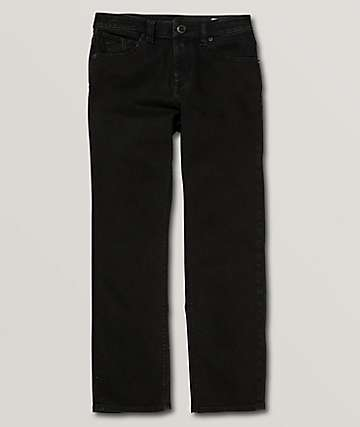 Volcom Boys Kinkade Black Denim Jeans