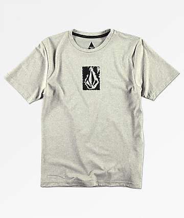 Volcom Boys Lido Pixel Heather Grey T-Shirt