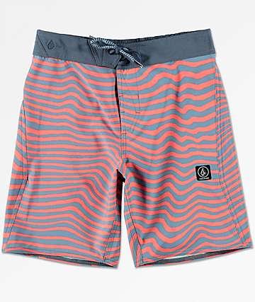 Volcom Boys Mag Vibes Elastic Board Shorts