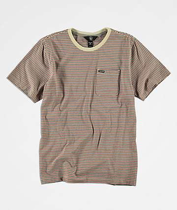Volcom Boys Preston Striped T-Shirt