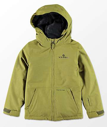 Volcom Boys Selkirk Moss Insulated 10K Snowboard Jacket