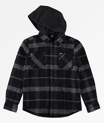Volcom Boys Shader Hooded Flannel Shirt