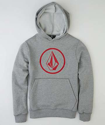 Volcom Boys Stone Heather Grey Hoodie