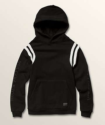 Volcom Boys Thrifter Black & White Hoodie