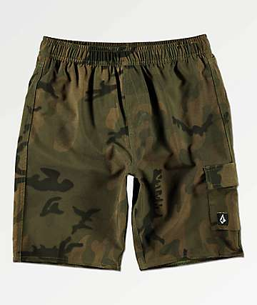 Volcom Boys True Volley Camo Board Shorts