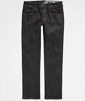 Volcom Boys Vorta Black Rinser Denim Jeans