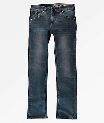 Volcom Boys Vorta Indigo Blue Jeans