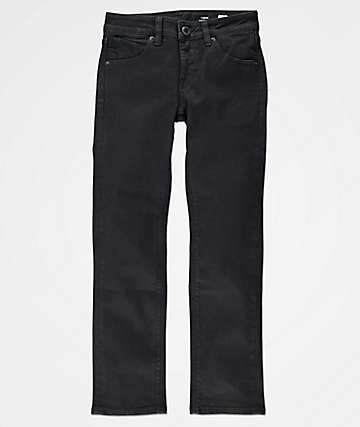 Volcom Boys Vorta Slim Straight Black Jeans