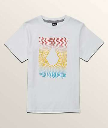 Volcom Boys Wiggly Stone White T-Shirt
