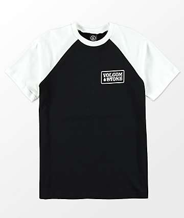 Volcom Boys Wrecker Black & White T-Shirt