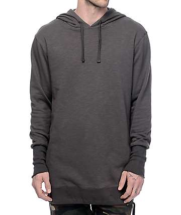 Volcom Bridge 2 Tone Black & Charcoal Tech Fleece Hoodie