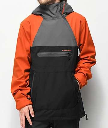 Volcom Brighton 15K  chaqueta de snowboard naranja