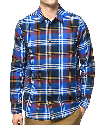 Volcom Caden Blue Flannel Shirt