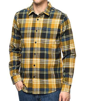 Volcom Caden Caramel Flannel Shirt
