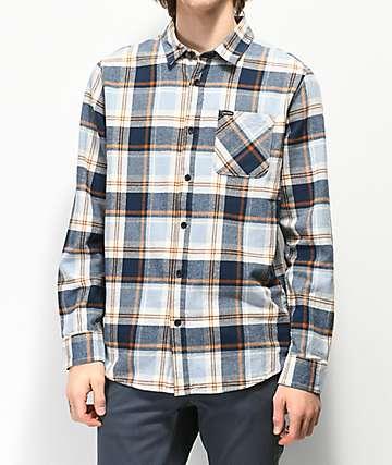 Volcom Caden Slate Blue Flannel Shirt