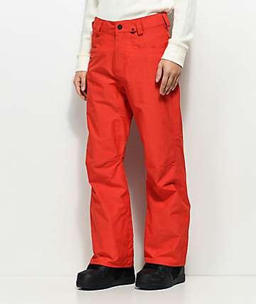 Volcom Carbon Fired 10K pantalones snowboard en rojo
