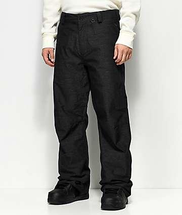 Volcom Carbon Vintage Black 10K Snowboard Pants
