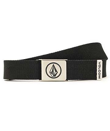 Volcom Circle Stone Black Web Belt