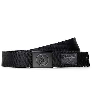 Volcom Circle Web All Black Belt