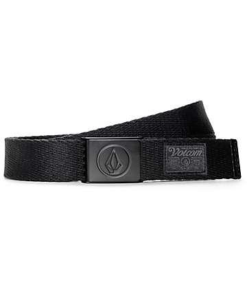 Volcom Circle Web All Black Belt