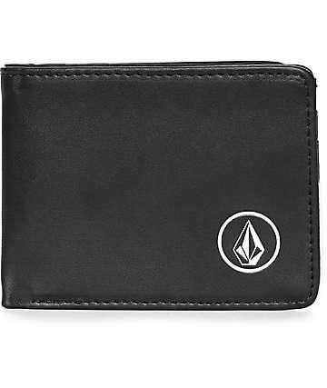 Volcom Corps Bi Fold Black Wallet