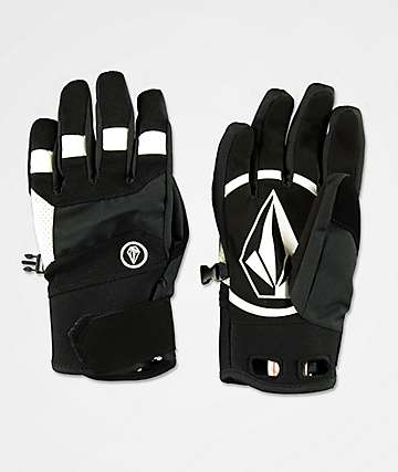Volcom Crail Black & White Snowboard Gloves
