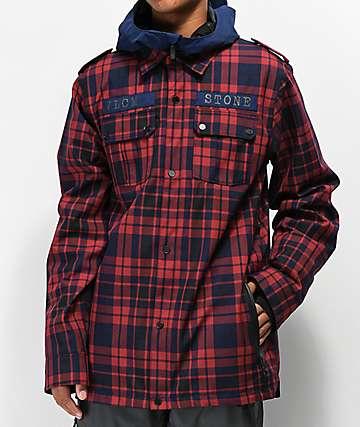 Volcom Creedle2Stone 10K chaqueta de snowboard roja