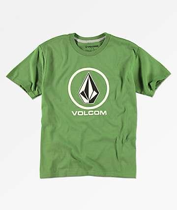 Volcom Crisp Stone camiseta verde para niños
