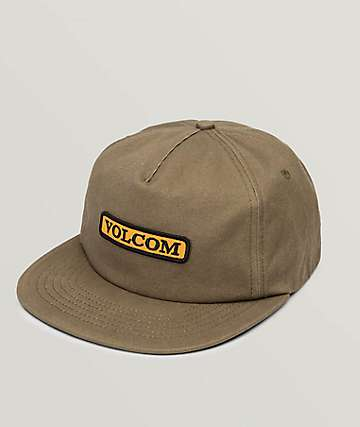 Volcom Crowd Control Brown Snapback Hat